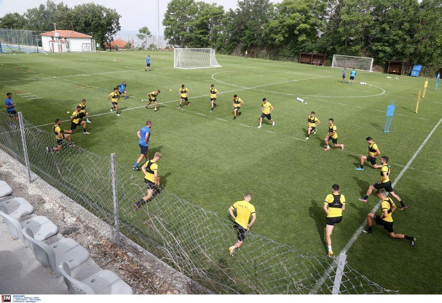 Εικόνες από την πρωινή προπόνηση της ΑΕΚ στην Πορταριά: 6η ημέρα
