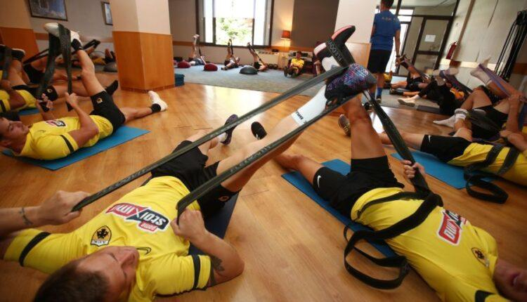 Εικόνες από την πρωινή προπόνηση της ΑΕΚ στην Πορταριά: 7η ημέρα
