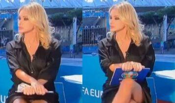 EURO 2021: Η παρουσιάστρια που μοίρασε εγκεφαλικά με κίνηση βγαλμένη από το Βασικό Ένστικτο