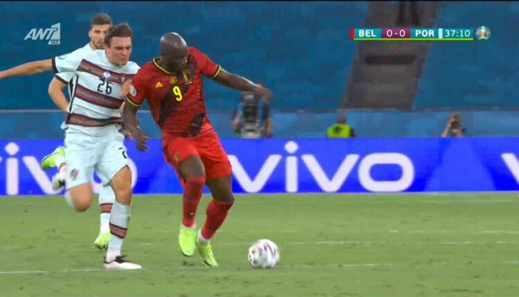 EURO 2021: Eξαλλοι οι Βέλγοι με φάουλ που δε δόθηκε στο Λουκάκου (VIDEO)