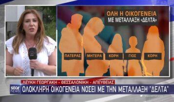 Θεσσαλονίκη: Ολόκληρη οικογένεια νοσεί με την μετάλλαξη «Δέλτα» (VIDEO)