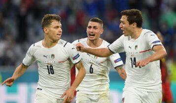 EURO 2021: Η Ιταλία στα ημιτελικά, νίκησε 2-1 το Βέλγιο (VIDEO)