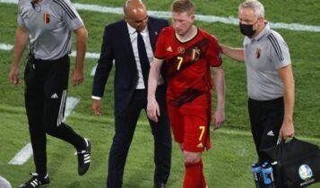 EURO 2021: Ο Ντε Μπρούινε έπαιξε στο ματς με την Ιταλία με σκισμένους συνδέσμους
