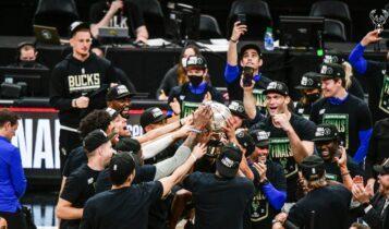 NBA: Οι πρωταθλητές ανατολής Μπακς και η αγκαλιά του Γιάννη με την κούπα (ΦΩΤΟ & VIDEO)