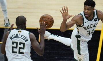 Τελικοί NBA: Σανς – Μπακς 118-105 με τον Γιάννη να επιστρέφει (VIDEO)