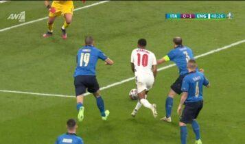 Ιταλία - Αγγλία: Ξαναζήτησε πέναλτι ο Στέρλινγκ παίζεται έδειξε ο Κάιπερς (VIDEO)