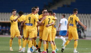 ΑΕΚ-Απόλλων Λεμεσού: Τρομερή ομαδική προσπάθεια και 1-0 ο Λιβάι Γκαρσία (VIDEO)