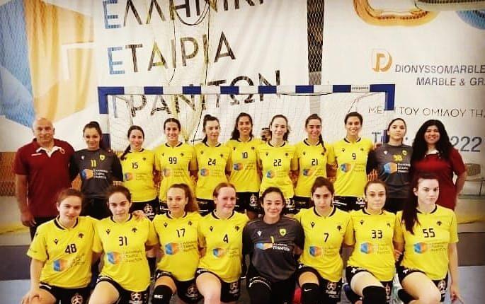 ΑΕΚ: Έμειναν εκτός μεταλλίων οι Νεάνιδες στο Πανελλήνιο πρωτάθλημα