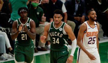 NBA Finals: Ξημερώματα Κυριακής οι Μπακς στο Φοίνιξ με στόχο το προβάδισμα απέναντι στους Σανς
