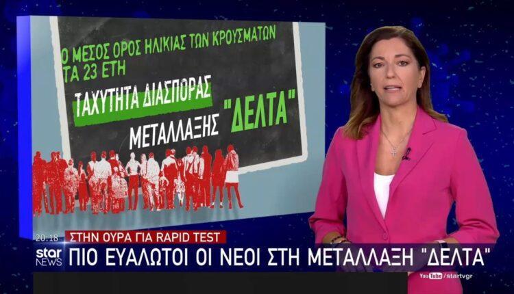 Στην ουρά για rapid test: Πιο ευάλωτοι οι νέοι στη μετάλλαξη «Δέλτα» (VIDEO)
