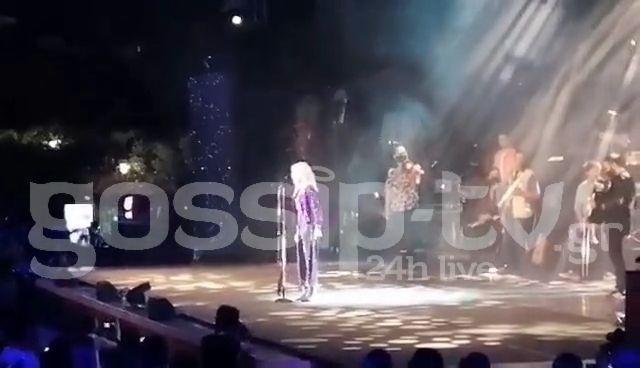 Aννα Βίσση: Αφιέρωσε τη συναυλία της στον Τόλη Βοσκόπουλο (VIDEO)