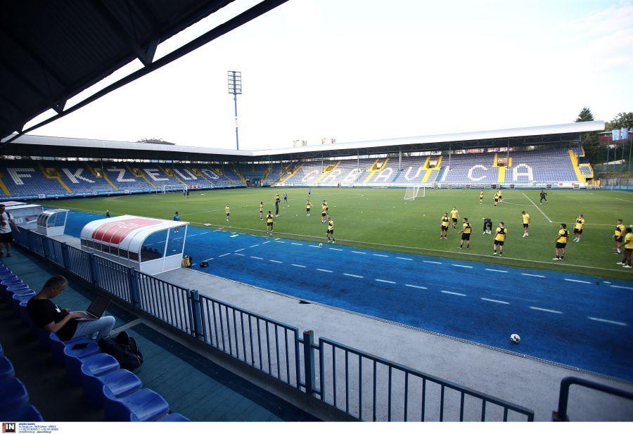 Εικόνες από την προπόνηση της ΑΕΚ στην «Grbavica Arena»
