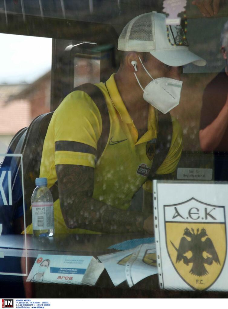 Εικόνες από την άφιξη της ΑΕΚ στο Σαράγεβο