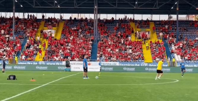 Βελέζ-ΑΕΚ: Δείτε τον κόσμο στο γήπεδο και την προθέρμανση (VIDEO)