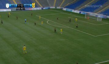 Αστάνα-Αρης: Υπέροχη σέντρα του Μπεϊπεζέκοφ και 2-0 ξανά ο Τομάσοφ (VIDEO)