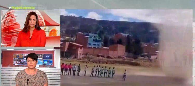 Ανεμοστρόβιλος διέκοψε ποδοσφαιρικό αγώνα στη Βολιβία! (VIDEO)