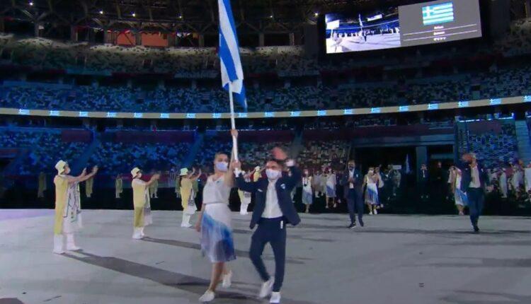 Ολυμπιακοί Αγώνες-Τελετή Εναρξης: Η είσοδος της Ελλάδας με Πετρούνια και Κορακάκη (VIDEO)