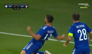 Νέφτσι Μπακού-Ολυμπιακός: Εκανε το 0-1 ο Μασούρας (VIDEO)