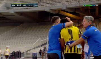 ΑΕΚ-Βελέζ:Αγκαλιά παρηγοριάς του Μιλόγεβιτς στον Λιβάι (VIDEO)