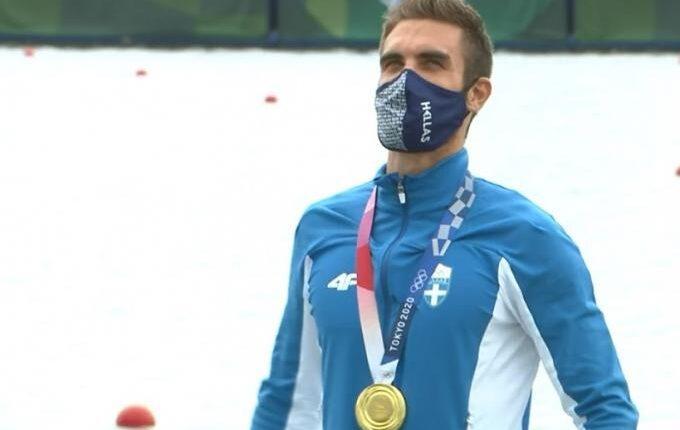 Ο Ντούσκος το πρώτο χρυσό Ολυμπιακό μετάλλιο στην κωπηλασία -Η στιγμή της απονομής (VIDEO)