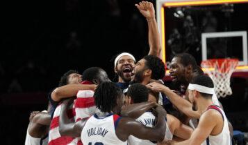 Ολυμπιακοί Αγώνες: Οι ΗΠΑ το χρυσό στο μπάσκετ, 87-82 τη Γαλλία (VIDEO)