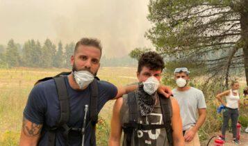 Παππάς: Στην Βόρεια Εύβοια - Βοηθάει στην κατάσβεση της πυρκαγιάς (ΦΩΤΟ)
