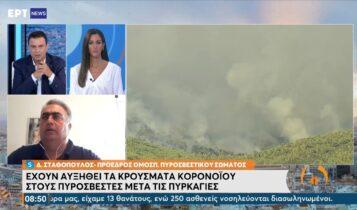 Έχουν αυξηθεί τα κρούσματα κορωνοϊού στους πυροσβέστες μετά τις πυρκαγιές (VIDEO)