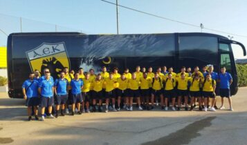 AEK Β': Αναχώρησε με 24 παίκτες για Πορταριά (ΦΩΤΟ)
