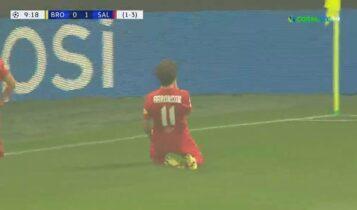 Μπρόντμπι-Σάλτσμπουργκ: Ανετα 0-2 η Σάλτσμπουργκ τη Μπρόντμπι από το 10' (VIDEO)