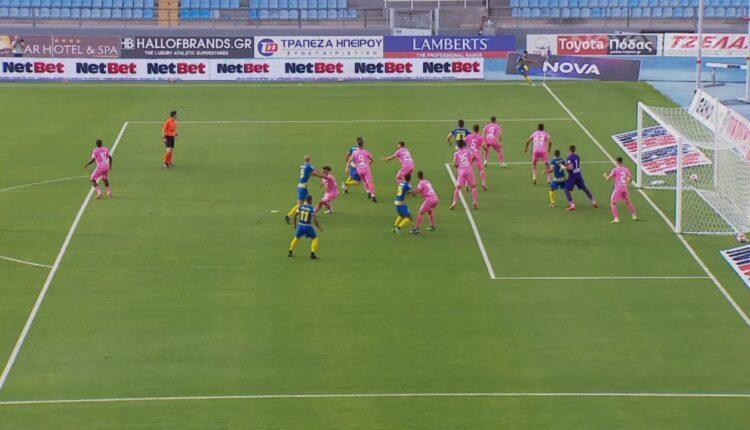 ΠΑΣ Γιάννινα-Παναιτωλικός: Το 0-1 ο Βργκοτς (VIDEO)