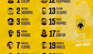 ΑΕΚ: Αυτά είναι τα νούμερα που διάλεξαν οι παίκτες (ΦΩΤΟ)