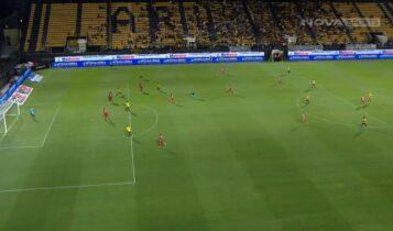 Αρης-Ολυμπιακός: Σέντρα Μαντσίνι, το 1-0 ο Γκαρσία προ κενής εστίας (VIDEO)