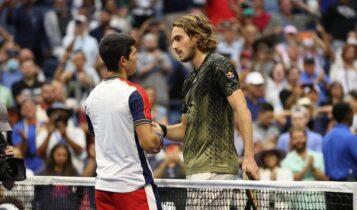 US Open: Αποκλείστηκε ο Τσιτσιπάς, ηττήθηκε 3-2 από τον 18χρονο Αλκάραθ