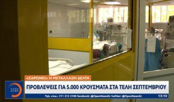 Μετάλλαξη δέλτα: Προβλέψεις για 5.000 κρούσματα στα τέλη Σεπτεμβρίου (VIDEO)
