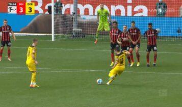 Λεβερκούζεν-Ντόρτμουντ: 3-3 με ΤΡΟΜΕΡΟ φάουλ του Γκερέιρο! (VIDEO)