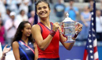 Κατέκτησε το US Open η εκπληκτική Ραντουκάνου που είχε αποκλείσει τη Σάκκαρη