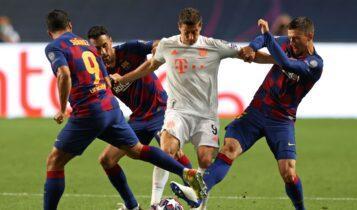 Champions League: Οι ενδεκάδες του Μπαρτσελόνα-Μπάγερν Μονάχου