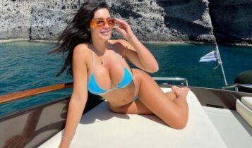 Χαμός πάνω σε σκάφος στη Σαντορίνη με διάσημο μελαχρινό μοντέλο (ΦΩΤΟ)