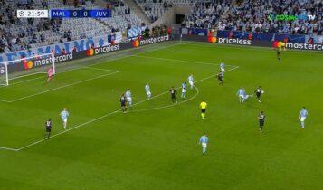Μάλμε-Γιουβέντους: Ο Αλεξ Σάντρο το 0-1 (VIDEO)