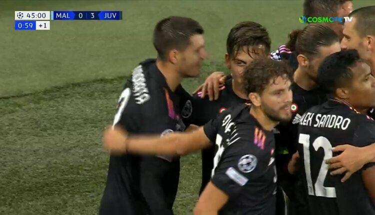Μάλμε-Γιουβέντους: Δύο γκολ σε δύο λεπτά και 0-3 (VIDEO)