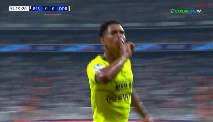 Μπεσίκτας-Ντόρτμουντ: Το 0-1 ο Μπέλιγχαμ (VIDEO)
