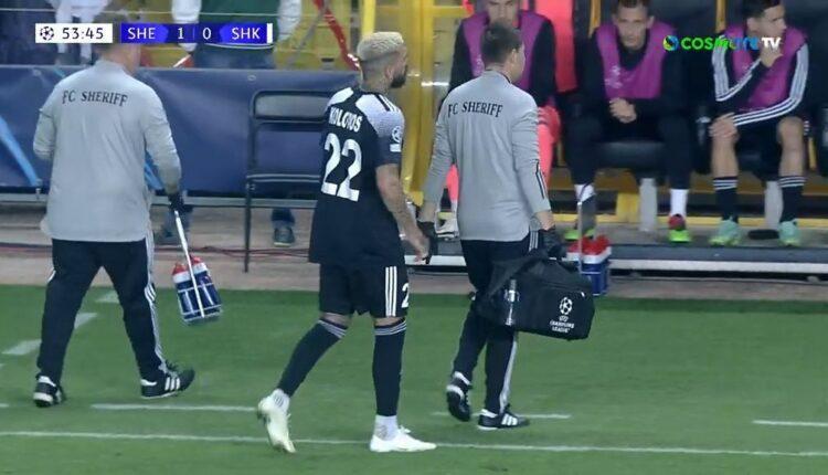 Σερίφ-Σαχτάρ: Αποχώρησε τραυματίας ο Κολοβός (VIDEO)