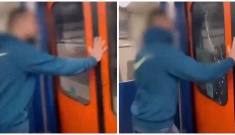 Απίστευτο: Νεαρός σπάει με το κεφάλι του τζάμι σε τρένο του ΗΣΑΠ για το TikTok! (VIDEO)