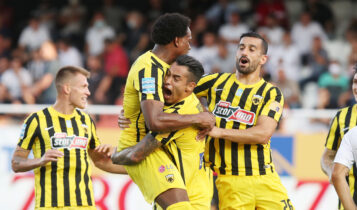 ΟΦΗ-ΑΕΚ: Γκολάρα με οβίδα Αραούχο για το 0-1! (VIDEO)