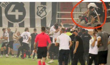 ΑΕΚ: Οπαδοί του ΟΦΗ μπήκαν από τις εξέδρες στο γήπεδο στο 3-3! (VIDEO)