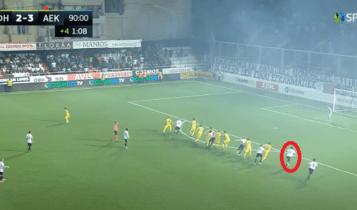 ΟΦΗ - ΑΕΚ: Η γραμμή του οφσάιντ εξαφανίστηκε και στο τρίτο γκολ των Κρητικών! (ΦΩΤΟ-VIDEO)