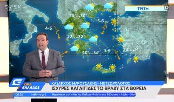 Καιρός: Από σήμερα υποχωρεί σταδιακά η ζέστη (VIDEO)