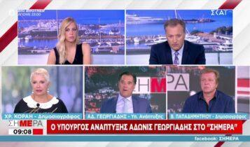 Γεωργιάδης: «Απορρόφηση των αυξήσεων με μείωση φόρων και εισφορών» (VIDEO)