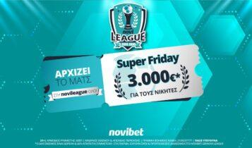 Super Friday στη Novileague–Βρες το σκορ και διεκδίκησε 3.000 € δωρεάν*!