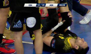 ΑΕΚ: VIDEO από τον τραυματισμό του Λέμος